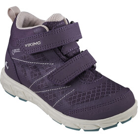 Viking Footwear Veme Mid GTX Sko Børn, purple/bluegreen